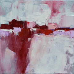 Crimson Dream Land, Abstract Oil Painting