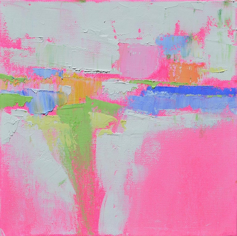 Patrick O'Boyle Abstract Painting - Pastel Dream Land, Abstract Oil Painting