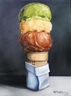 Three Scoops, Oil Painting