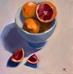 Bowl of Blood Oranges, Oil Painting