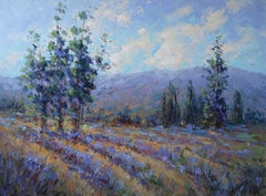 Country Lavender, Oil Painting