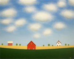 Red Barn on the Old Farm, Original Painting