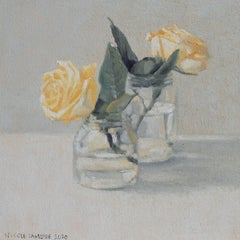 Sunny Yellow Roses, Oil Painting