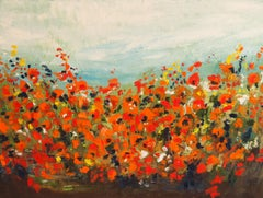 Summer Blooms, Abstract Oil Painting