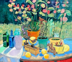 Still Life in Garden, Oil Painting