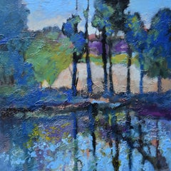 Trees by the Still Water, Original Painting