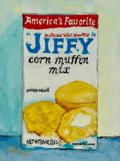 Jiffy Muffin Mix, Oil Painting