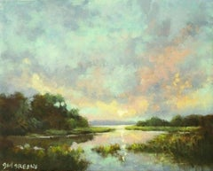 Pastel Skies at Sunset, Oil Painting