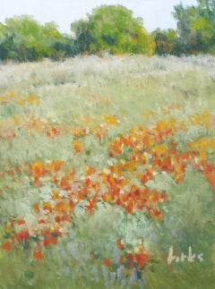 Roadside Reds, Oil Painting