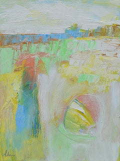 The Landscape Impression with Gold, Abstract Painting