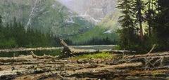 Mountain Lake, Oil Painting