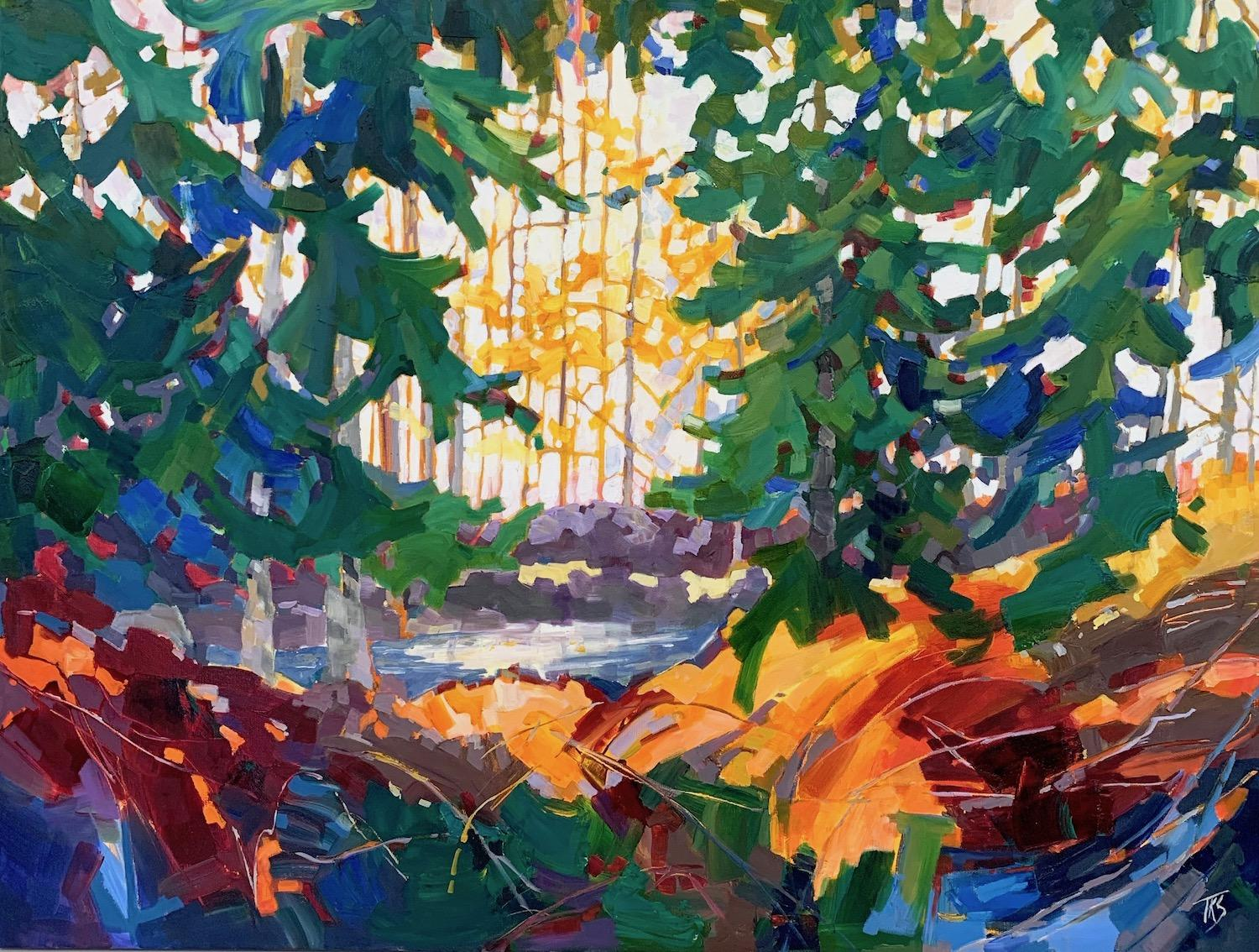 Gold Stream, Oil Painting