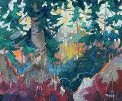 Fir, Oil Painting
