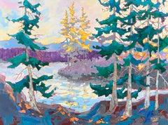 Lagoon Trail, Oil Painting