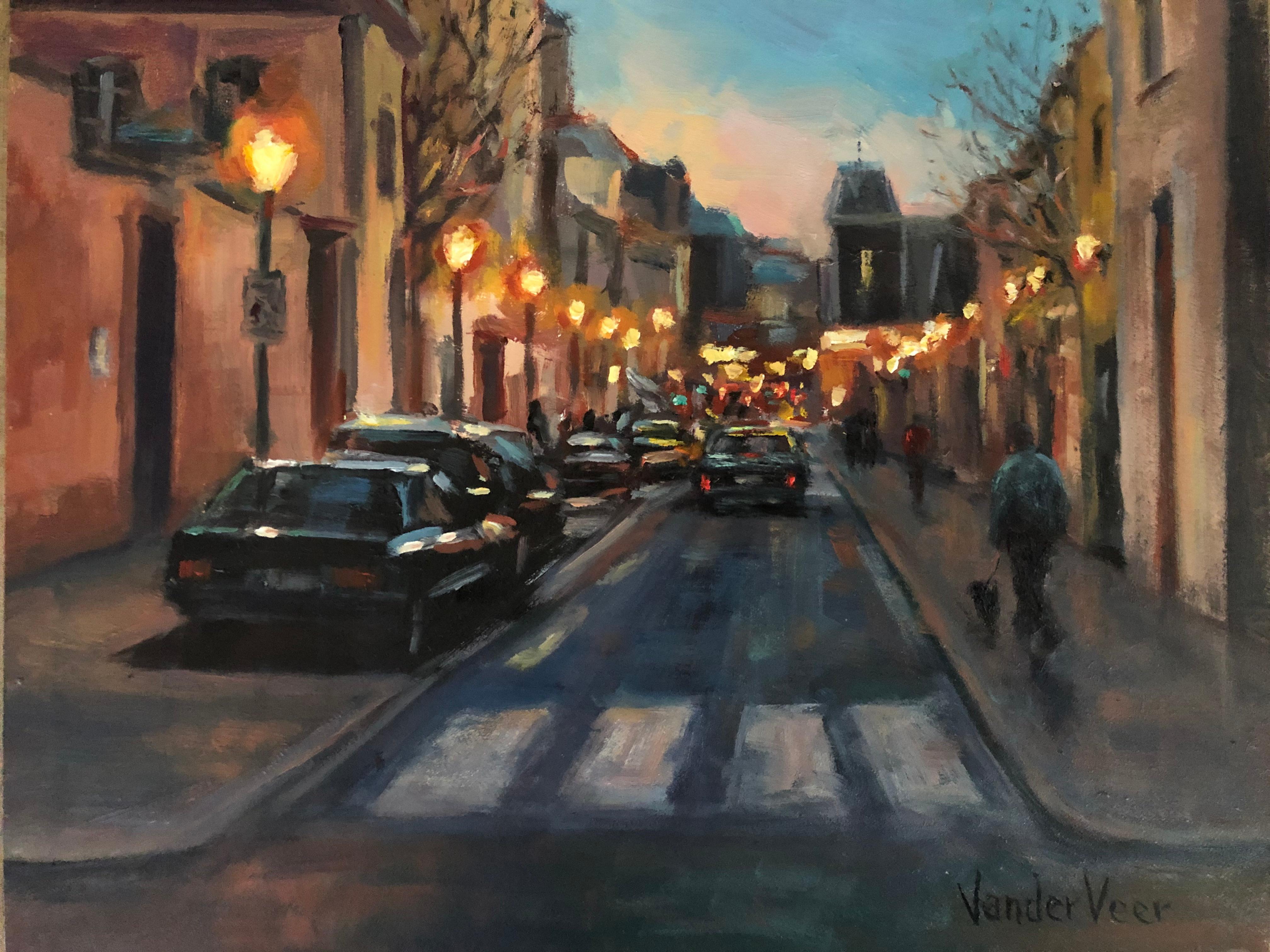 Night Walk, Oil Painting