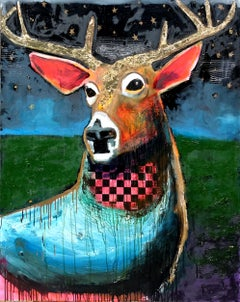 Night Deer, Original Painting