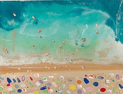 Beach Aerial 1, Abstract Painting