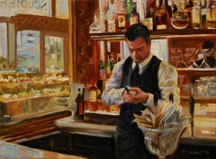 Checking the Vintage, Oil Painting