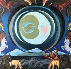 Moon Tarot, Oil Painting