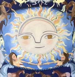 The Sun Tarot, Oil Painting