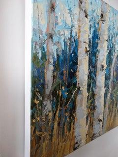 Tree Lights, Oil Painting