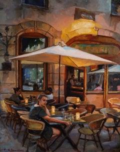 Dinner in Lyon, Oil Painting