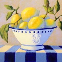 Bowl of Lemons, Oil Painting