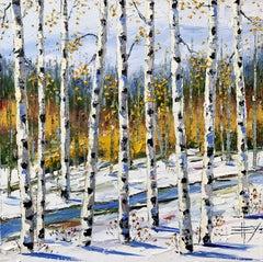 Autumn's Descent, Oil Painting
