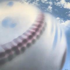 Baseball in Motion, Original Painting