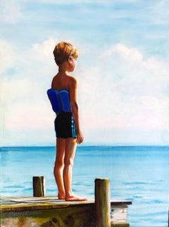 Dive Contemplation, Original Painting