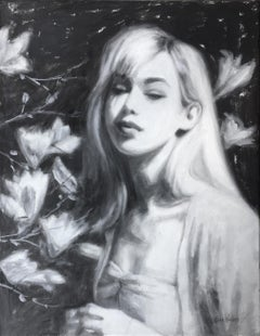In the Magnolias, Oil Painting