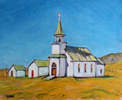 Old Lutheran Church, Melville, Montana, Oil Painting