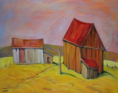 Dunrobin Barns, Oil Painting