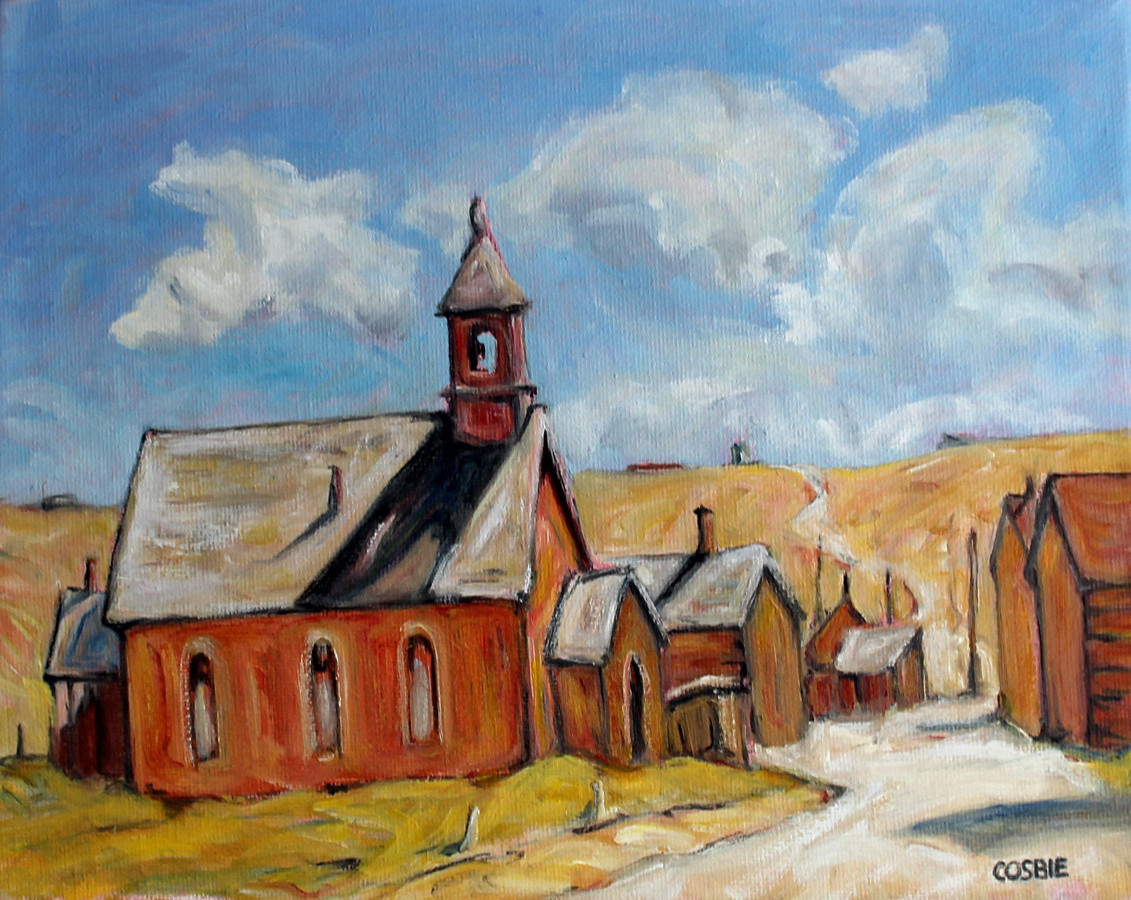 Green Street, Bodie, California, Oil Painting