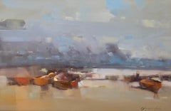 Boats after Fishing, Oil Painting