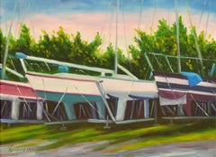 City Boat Yard, Oil Painting