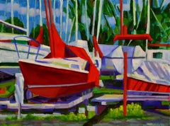 Boats at Rest, Oil Painting