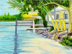 City Island Bait Shop, Oil Painting