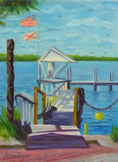 City Island Pier, Oil Painting