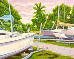 Sarasota Boat Yard, Oil Painting