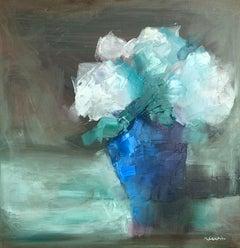 White Hydrangeas, Oil Painting