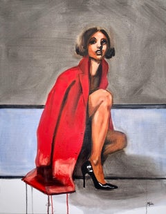 New Red Coat, Oil Painting