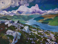 View from the Summit, Original Painting