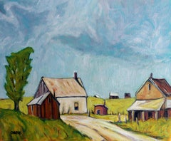 Old Farmstead, Enfield, North Carolina, Oil Painting