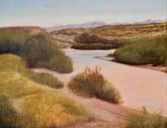Desert Arroyo, Oil Painting
