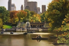 Central Park - Bethesda Terrace in Autumn, Oil Painting