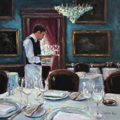 Avant le Diner (Before Dinner), Oil Painting