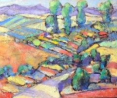 Flower Farm Vista, Original Painting