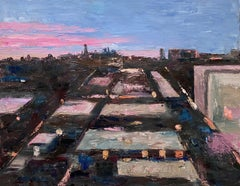 Rear Window View, Oil Painting