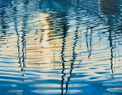 Harbor Reflections, Oil Painting